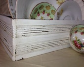 Wooden Box Shabby Chic Box White Storage Box
