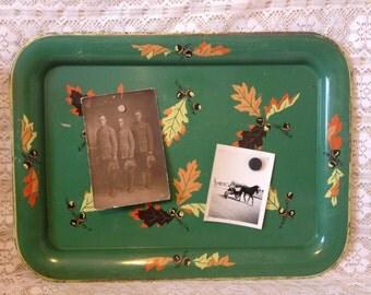 Vintage TV Tray Metal Message Board