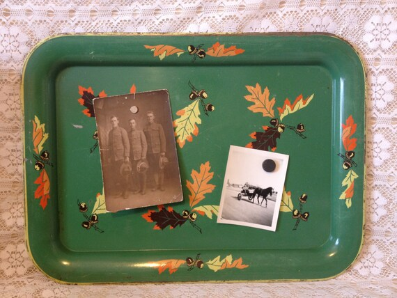 vintage tv tray metal message board. Black Bedroom Furniture Sets. Home Design Ideas