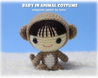 INSTANT DOWNLOAD Amigurumi Pattern Baby in Monkey Costume/ Chinese Zodiac Monkey