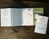 Custom Wedding Welcome Itinerary & Map - Design Fee