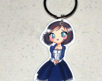 Elizabeth - Bioshock Infinite Keychain, Cell Phone Charm, Sterling Silver Earrings, Clip on Earrings or Necklace