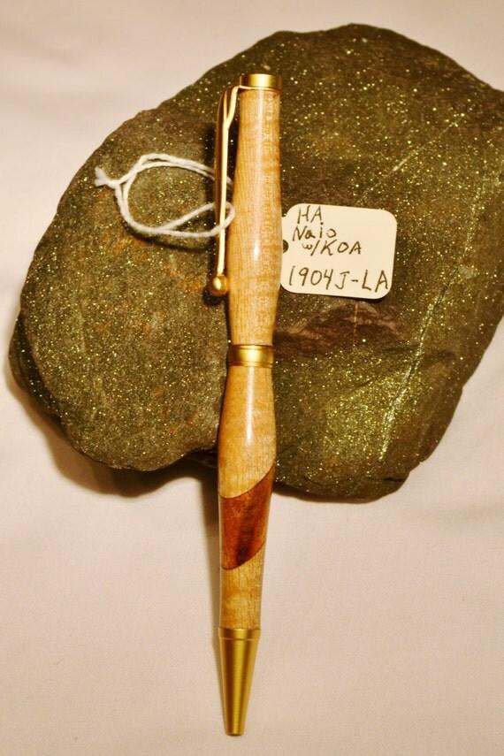 Hawaiian Naio with Koa Segmented Pen - Handcrafted