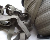 5 yards Khaki Brown Fold Over Elastic