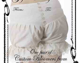 bloomers gift certificate
