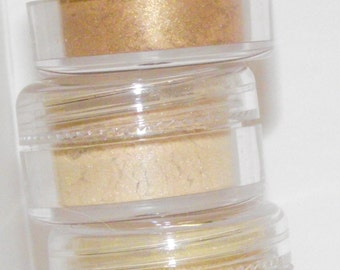 Mineral eye shadow shades of gold shadow