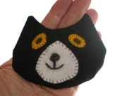 Cat Rice Heat Cold Pack Microwavable for Hand Pocket Boo Boos Ouchies Black White Cat Head Rice Pack