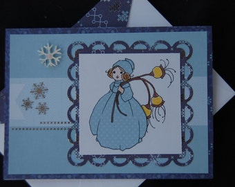 Winter Charm - Blank Card and Coordinating Envelope
