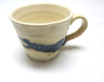 Coffee Cup Mug Cream Blue