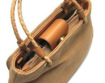 Tan Weave Purse Amanda Smith Vintage Handbag