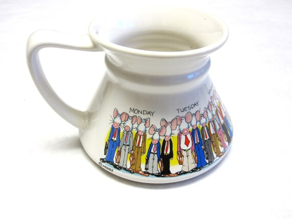 No Spill Coffee Cup Mug Funny Work Rat Race Stoneware