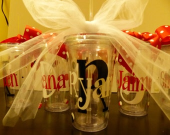 Wedding Tumblers - Bride, Bridesmaid, Groom, mother of the bride, mother of the groom