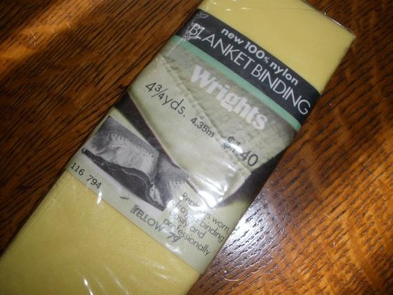 Vintage Wrights Nylon Blanket Binding Color Yellow 79 4
