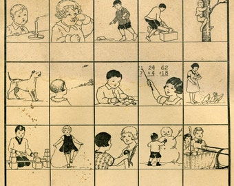 Public Domain Vintage Children Playing Clipart