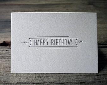 Happy Birthday - Letterpress Birthday Card
