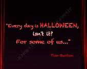 Tim Burton Halloween Goth Quote Art 5x7 Framed Inspirational Print Famous Director Artist Quotation Fine Art