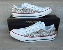 Swarvoski & Spike Studded Converse Shoes