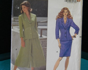 miss and misses /petite 2 piece dress a straight skirt and split skirt , uncut pattern, butterick 5207