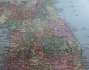Antique map of Florida 1911