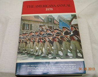 1976 The American Annual, history book, birthday 1976