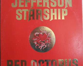 Vintage Jefferson Starship Red Octopus  LP Album