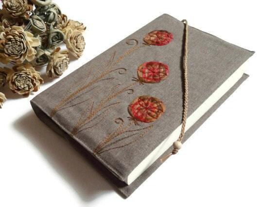 Bible cover Book Journal cover Natural canvas fiber art