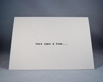 Valentines card Once Upon a Time anniversary wedding