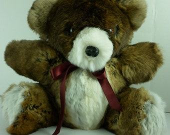 Real Rex Rabbit fur Teddy Bear new made in usa