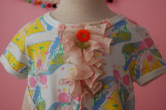 Reserved for Dani ON SALE: Little Girl Dress - Circus Inspired Dress
