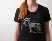 Unicorn Shirt - Unicorn Skeleton Screen Printed Women's T Shirt