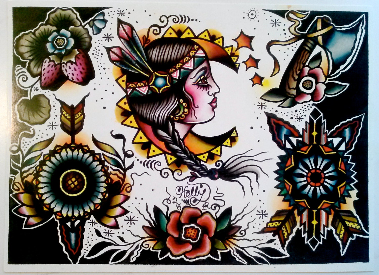 traditional tattoo flash wallpaper - photo #26