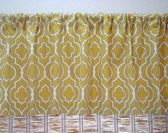 Modern Valance Kitchen Curtain Kitchen Valance Unlined 52x12 52x14 52X16 or 52X18