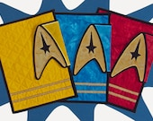 CUSTOM Star Trek / Starfleet Quilted Cover / Sleeve / Case for iPad, Kindle Fire 8.9 in, Nook HD Plus or Other Tablet PC