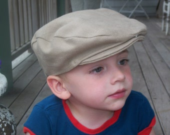 Boys Scally Cap, Newsboy Cap, Drivers Cap, Khaki