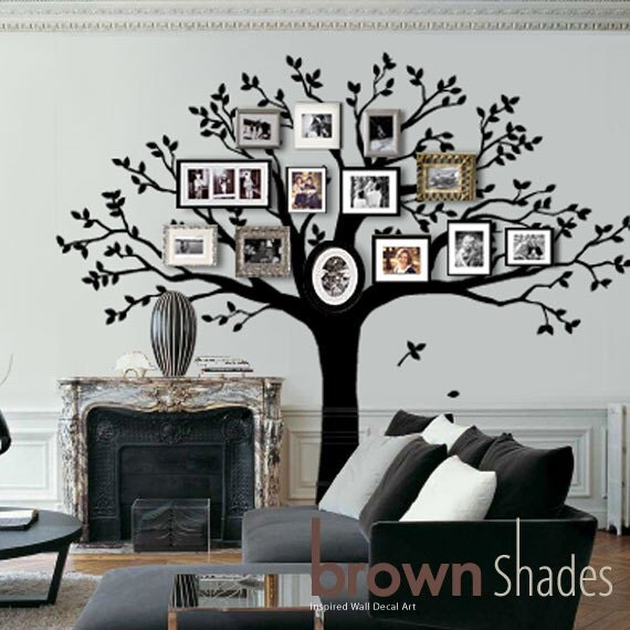 Wall decal family tree wall decor with family by brownshades - Arbre genealogique stickers ...