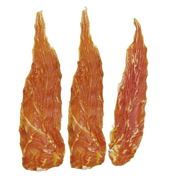 SAMPLE PACK - Chicken Jerky Dog Treats - 3 strips - a Naturally Wheat Free Gluten Free treat for your Dog - TRY me size