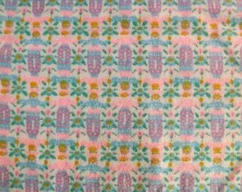 Cotton Flannel Fabric Yardage Tribal Print Pink Green Blue