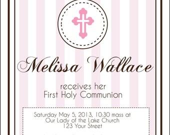 Digital First Communion Invitation