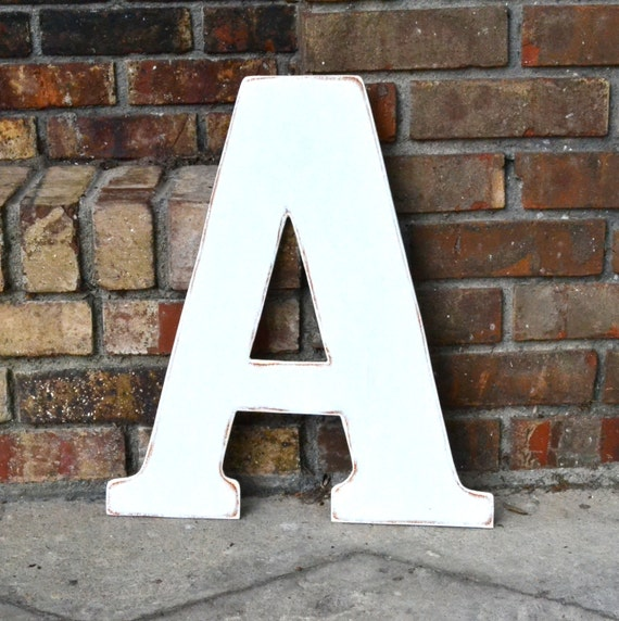 distressed wood letters 18 wooden letter a distressed white classic font by 21380 | il 570xN.421706161 ebki