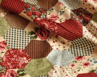 Cotton Fabric - Grandma's Flower Garden - Patchwork Style - 1 Yard