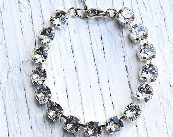 Diamond Tennis Bracelet Bridal Bracelet Bridal Jewelry Swarovski Crystal Rhinestone Tennis Bracelet Super Sparkler Mashugana