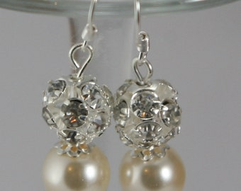 Beautiful glass pearls and rhinestones.