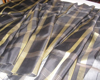 striking black and gold fabric