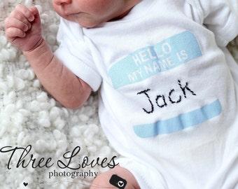 Personalized Newborn Birth Announcement Baby Bodysuit
