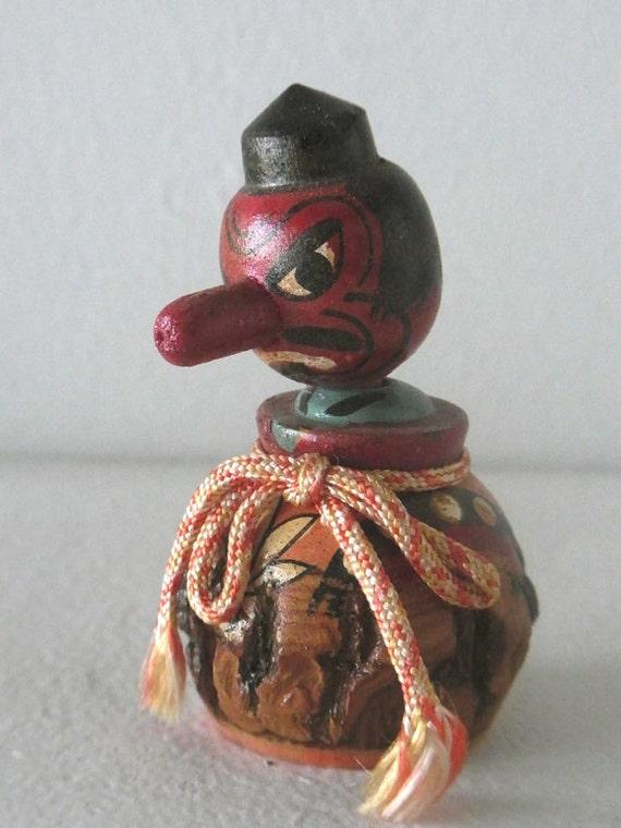 Vintage small kokeshi doll TENGU