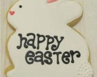 Happy Easter Bunny cookies 2 dozen