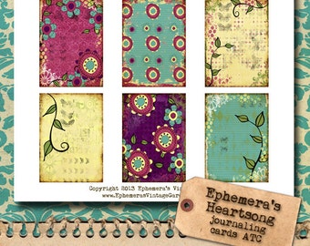 Mixed Media Backgrounds ATC
