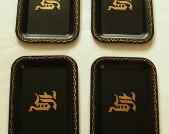 Nashco small metal trays.  set of 4.