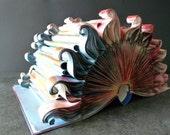 """Book Art Sculpture """"Red Sun"""""""