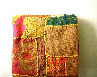vintage patchwork tapestry tribal folk art